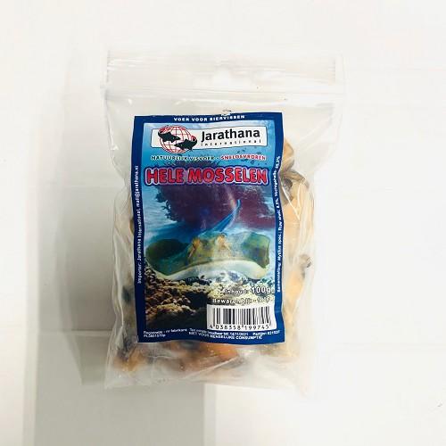 Diepvries hele mosselen per 100 gram